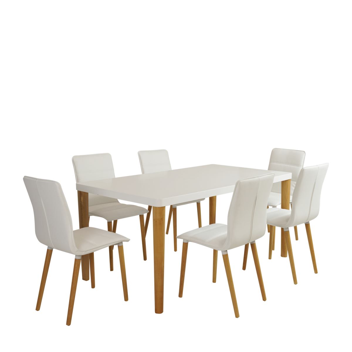 Nordic Dining Table With Chair 7pc