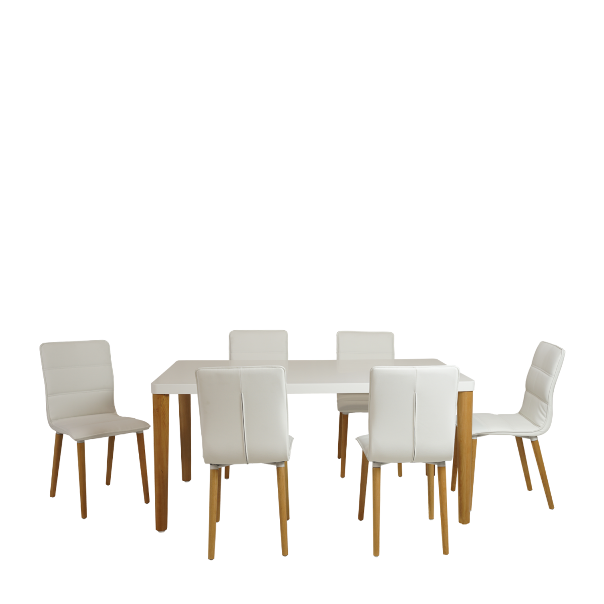 ... Nordic Dining Table With Chair 7pc   Double Star Furniture ... Part 58