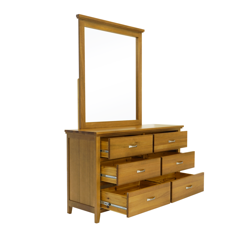 Double Star Furniture Alison 6drw Dressing Table With