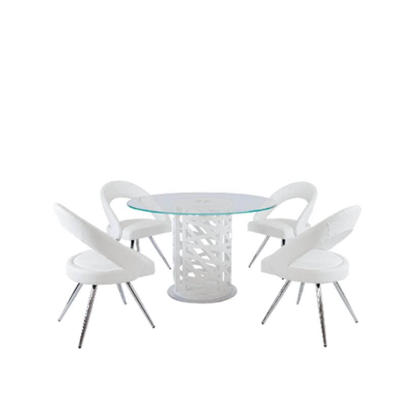 Pearl Dining Set 5piece - Double Star Furniture